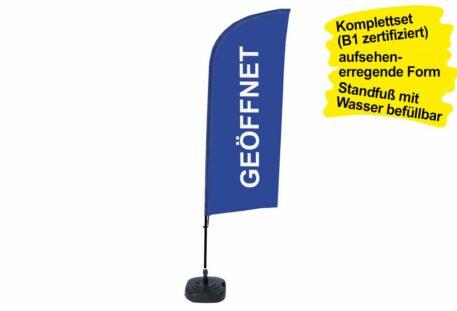 Beachflag OPEN - deutsch