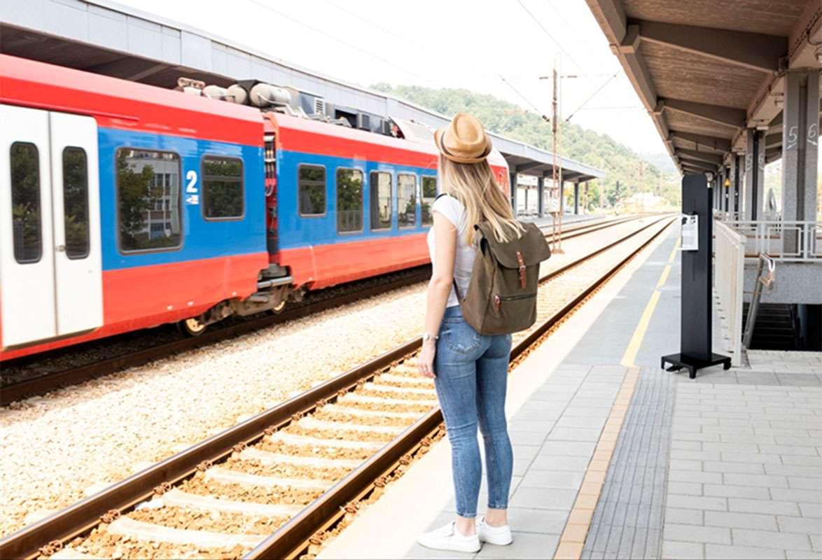 Desinfektionsmittelständer Outdoor SUNSIHINE - Bahnhof