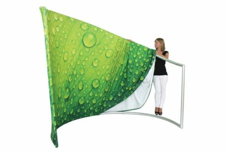 Displaywand MEETING - Textilstoff