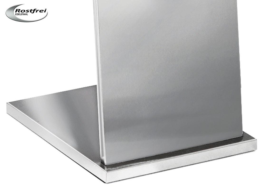 Edelstahl Prospektständer A4 BRAVO - Bodenplatte