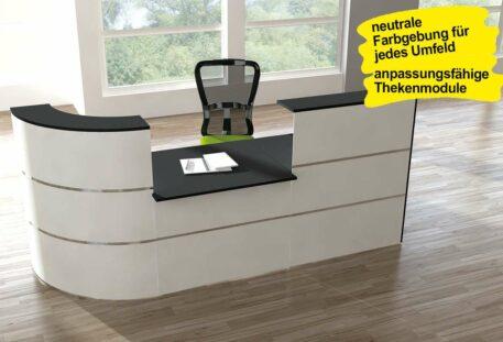 Empfangstheke JETSTREAM - Theke mit integriertem Schreibtisch