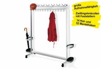 Garderobenständer fahrbar MULI 1400