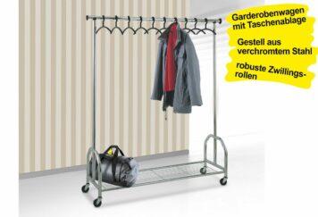 Garderobenwagen fahrbar BAGGAGE
