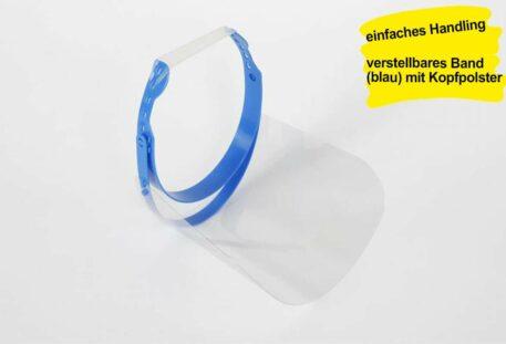 Gesichtsschutz Visier DELUXE - Kopfpolster