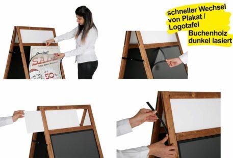 Holz Kundenstopper A1 ALLROUNDER - Buchenholz
