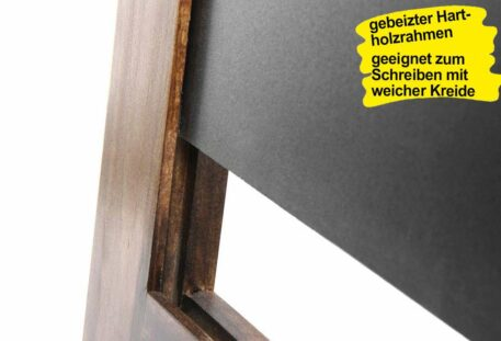Holz Kundenstopper ANTIK - Kreidetafel