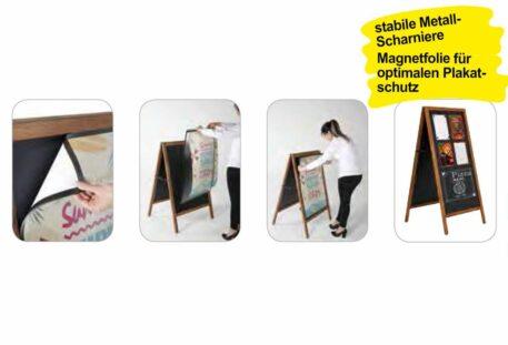 Holz Plakatständer A1 MAG - Magnetfolie