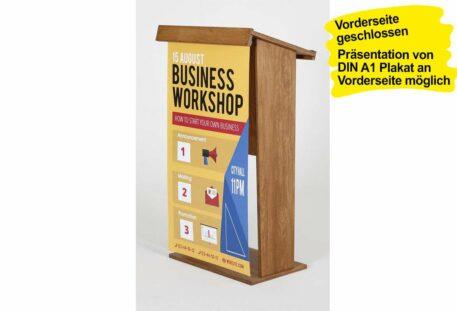 Holz Stehpult CONGRESS - Plakathalter