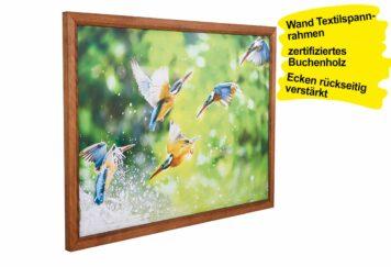 Holz Textilspannrahmen Wand BEAUTY