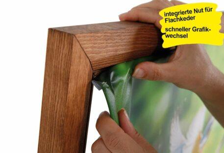 Holz Textilspannrahmen Wand BEAUTY - Flachkeder