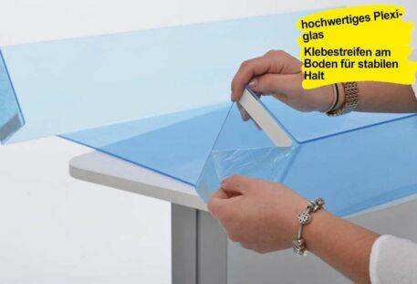 Hygienewand Theke PRIMA - Plexiglas