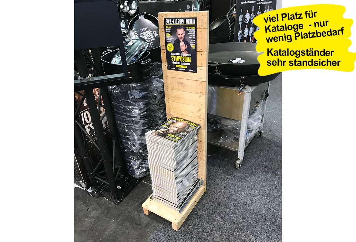 Katalogständer Holz A4 PINEWOOD - Anwendung