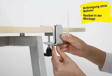 Klemmhalter Tischkante LOG - Montage
