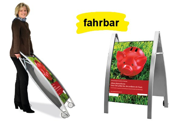 Kundenstopper A1 EMOTION - fahrbar