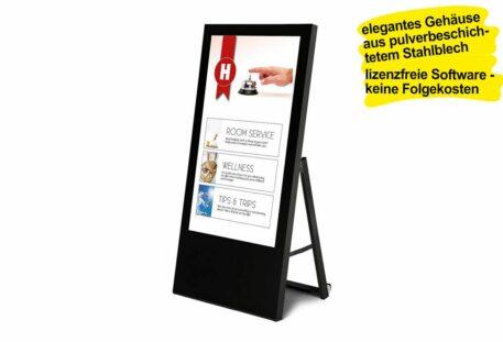Kundenstopper digital STYLE - schwarz