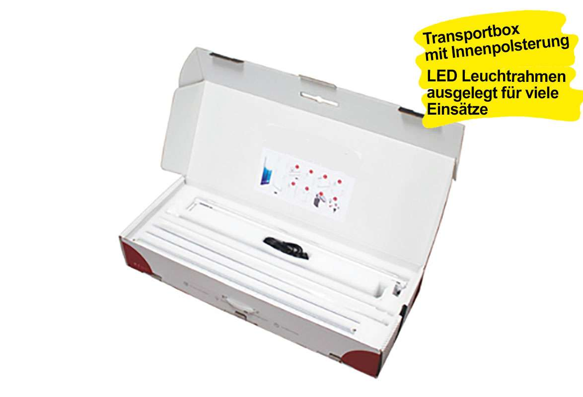 LED Leuchtrahmen OCTOPUS - Transportbox