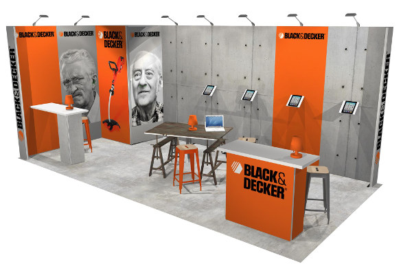 mobiler Messestand Black&Decker 3 x 6 m