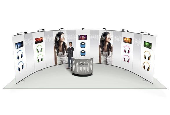 mobiler Messestand Expand LinkWall - Bogenform