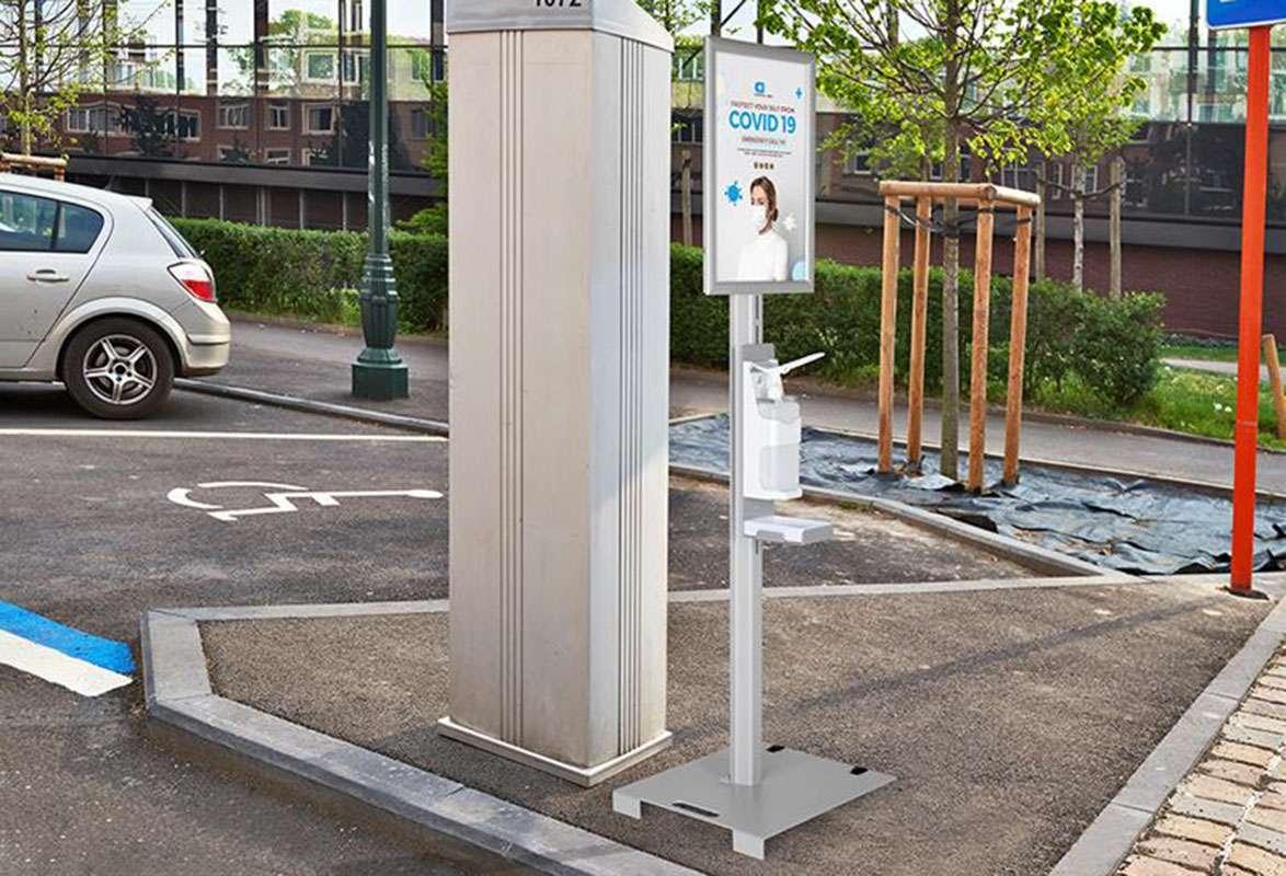 Outdoor Desinfektionsmittelständer PARK - Parkplatz