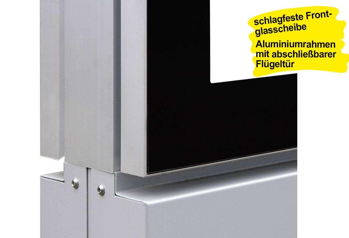 Plakatschaukasten LED BLITZ - Aluminiumrahmen