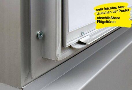 Plakatschaukasten LED BLITZ - Klapprahmen