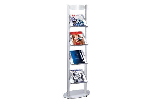 Prospektregal A4 BOOKWORM 4x DIN A4
