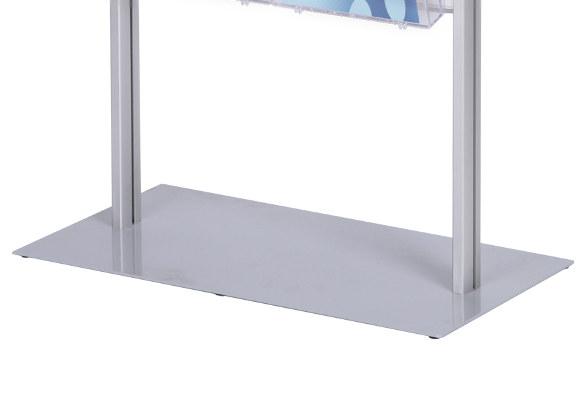 Prospektständer A4 Q - Bodenplatte