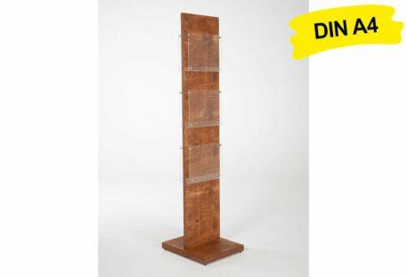 Prospektständer Holz A4 SIBRA - Holzfuß