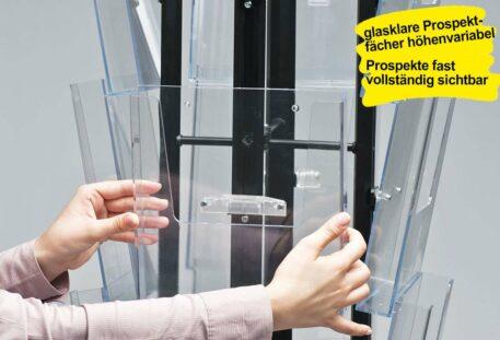 Prospektständer drehbar A4 MASTER - Prospektfächer