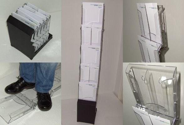 Prospektständer faltbar A4 AMIGO robust und vielseitig