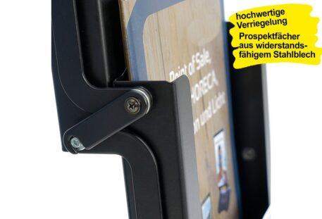 Prospektständer faltbar A4 BLANKO - Verriegelung