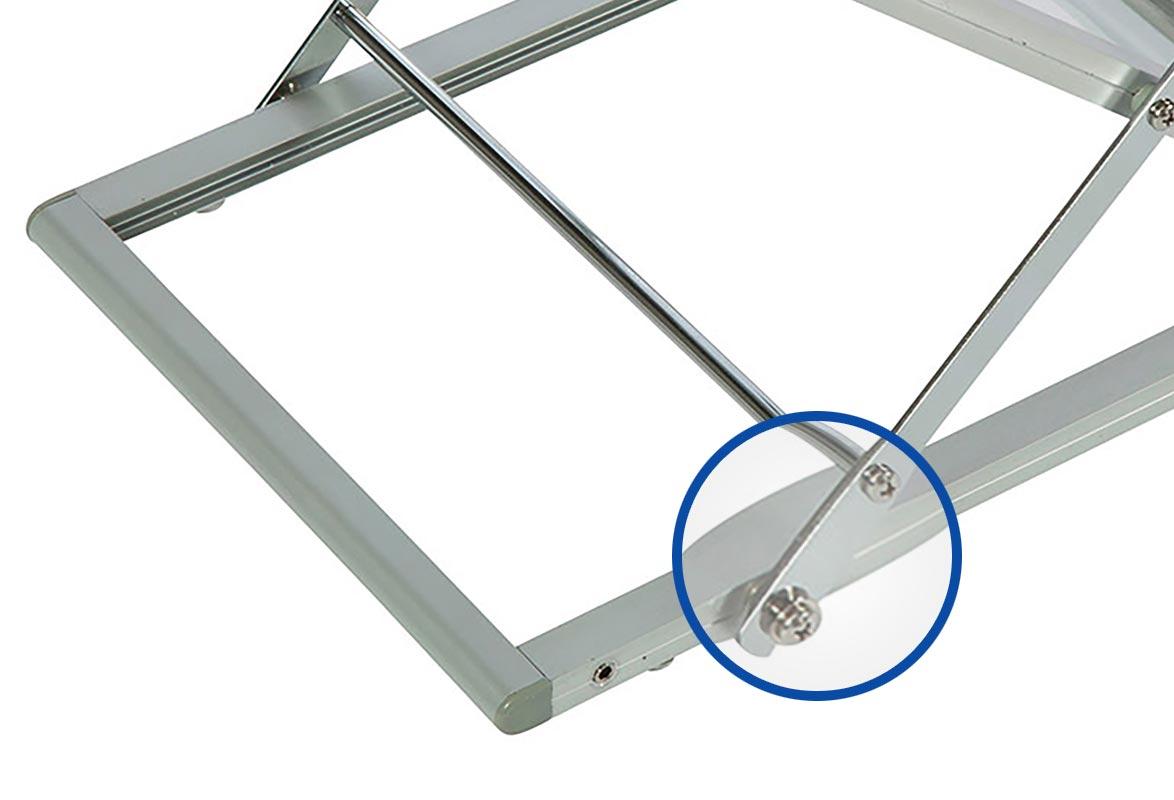 Prospektständer faltbar A4 MESSE - Verriegelung