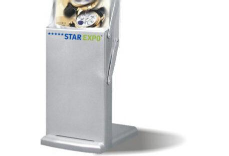 Prospektständer faltbar A4 POWER Fussteil - Logo