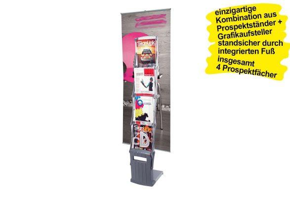 Prospektständer faltbar A4 TORNADO - Plakathalter