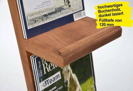 Prospektständer Holz A4 ROBI - Prospektablage