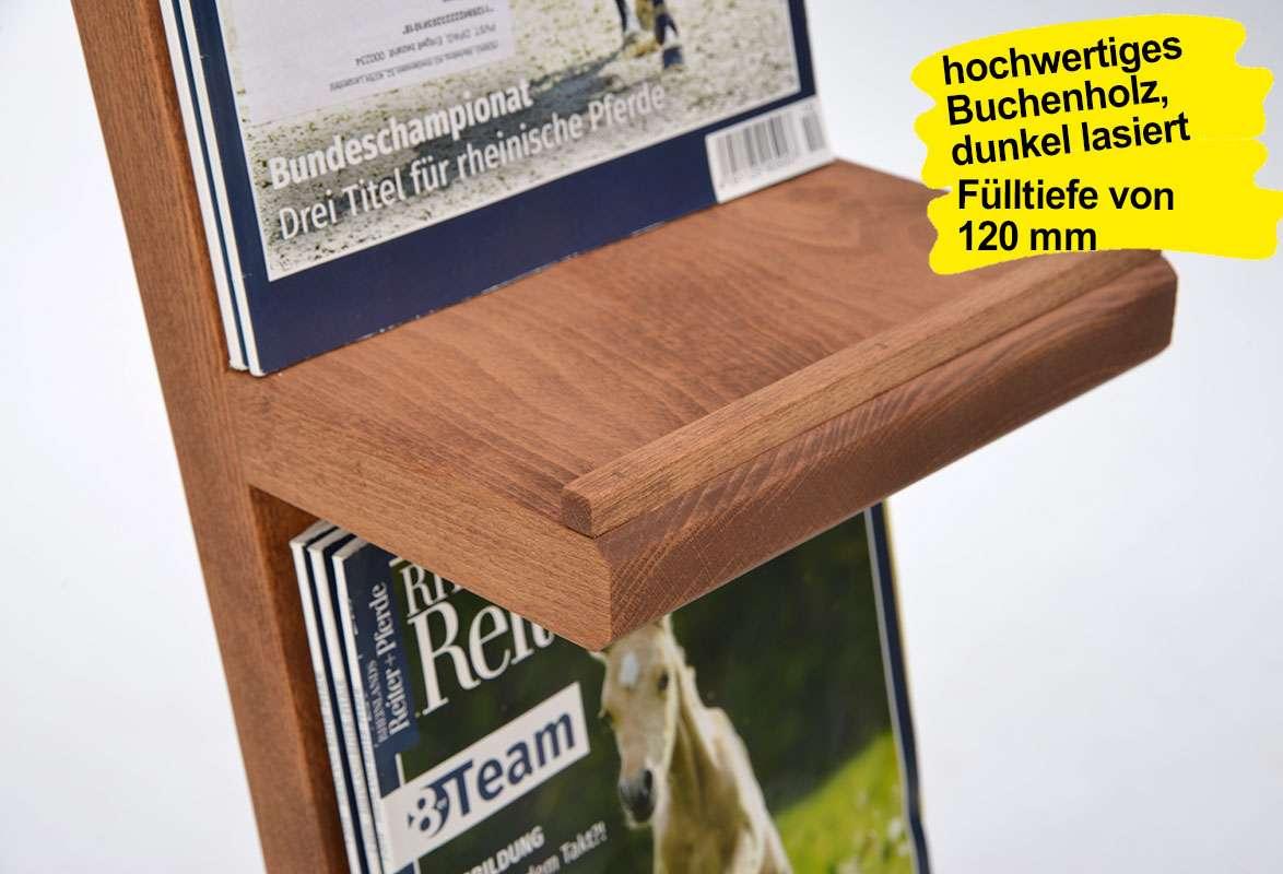 Prospektständer Holz A4 ROBI – Prospektablage