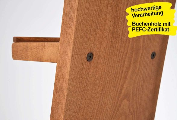 Prospektständer Holz A4 ROBI - Rückwand