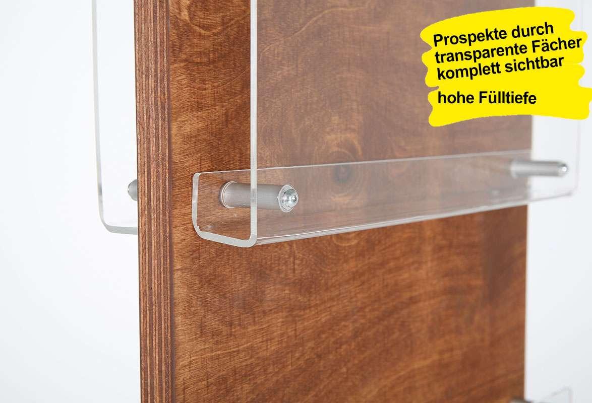 Prospektständer Holz A4 SIBRA - Prospektfächer