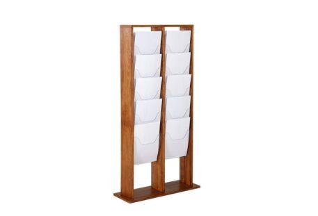 Prospektständer Holz A4 ZENA - 20 Fächer