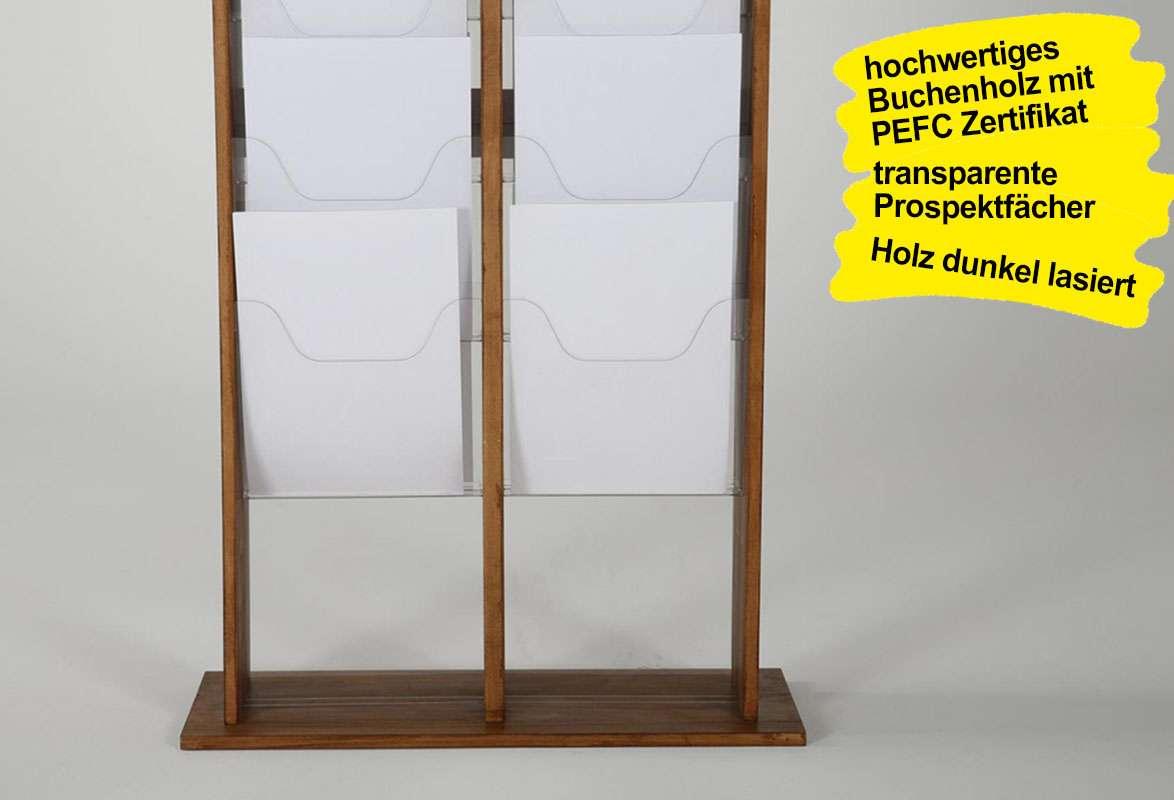 Prospektständer Holz A4 ZENA – Gestell