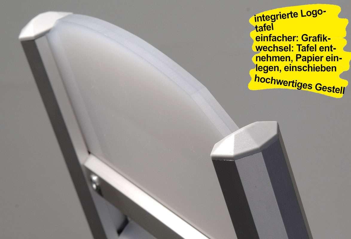 Prospektständer SECOND - Logotafel