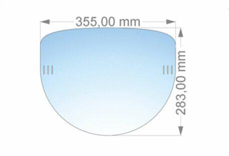 Schutzschirm Gesicht PROTECTION - Maße
