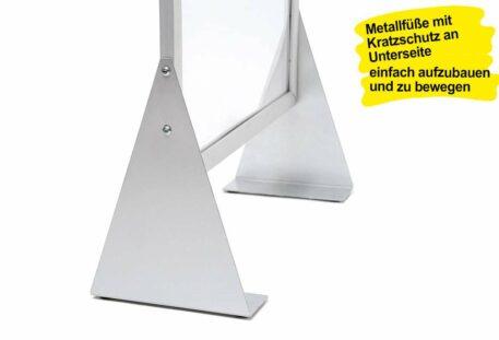 Schutzwand PUSH - Metallfüße