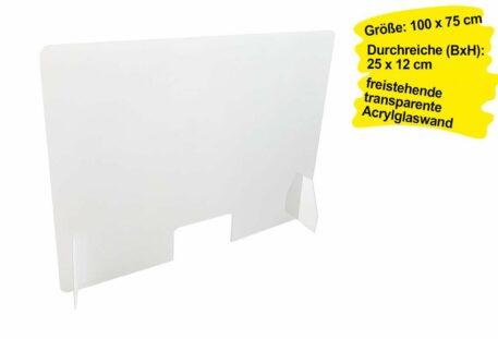 Schutzwand Theke CORONA - 100 x 75 cm