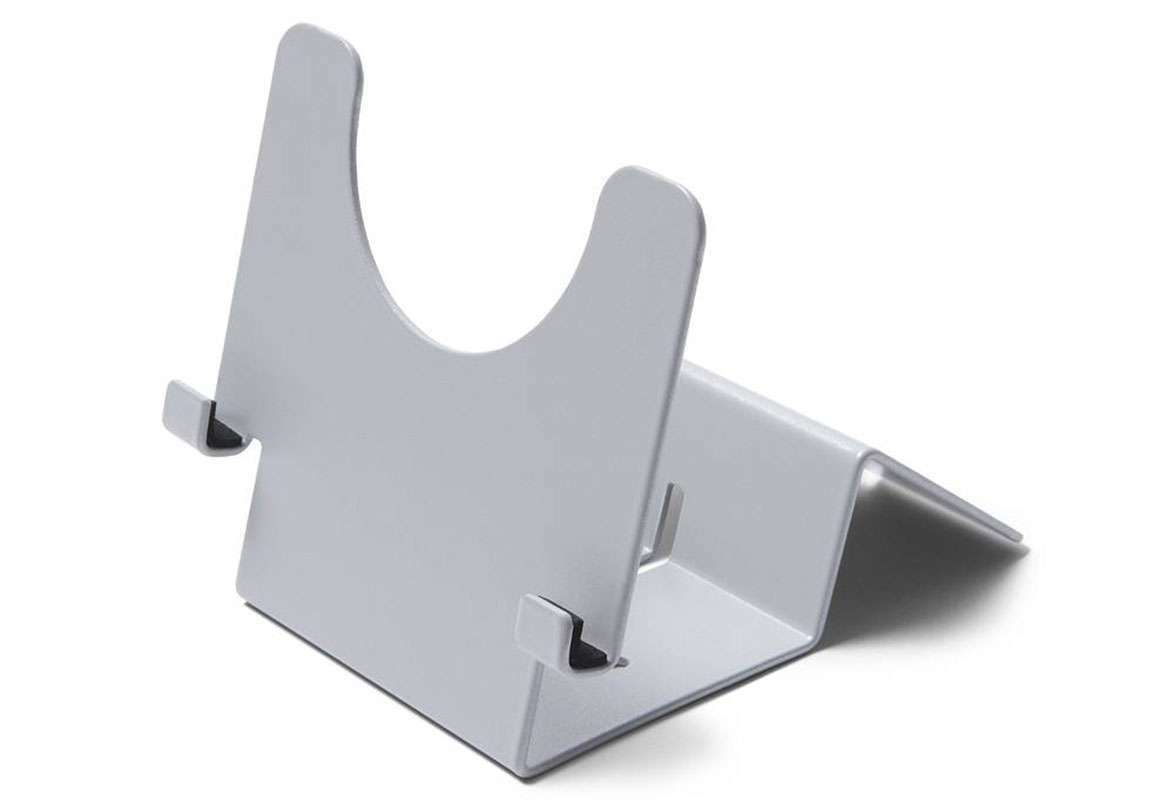 Tablet Tischständer abschließbar KEY - alusilber