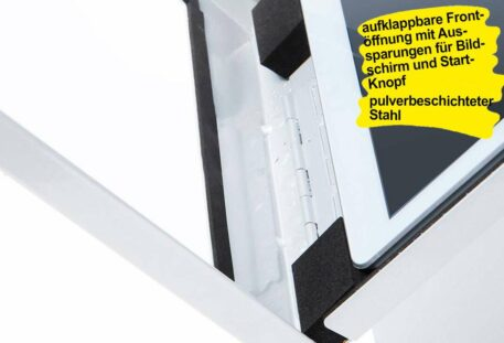 Tablet Wandhalterung COLORED - Frontklappe