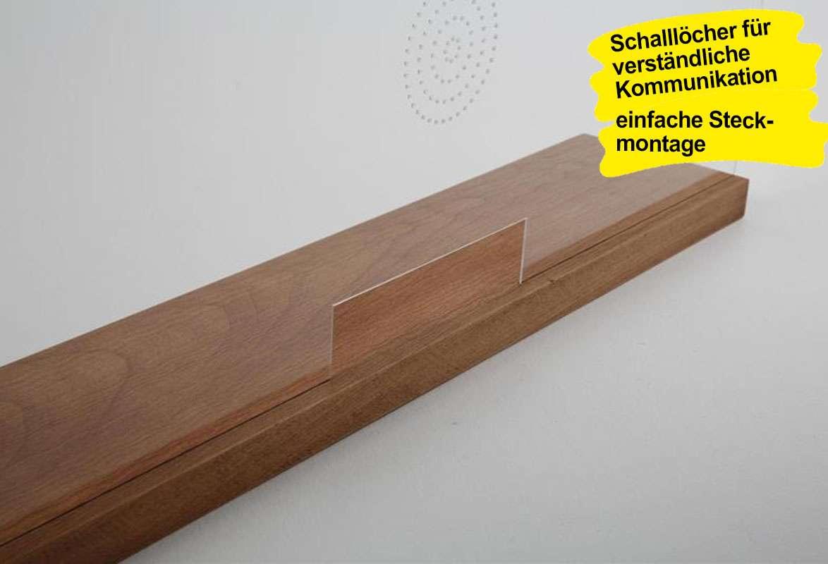 Thekenaufsteller mobil WOOD - Schalllöcher