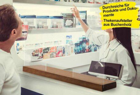 Thekenaufsteller mobil WOOD - Theke