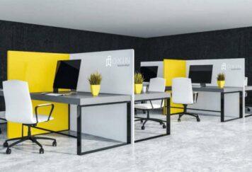 Tisch Trennwand PARTITION - Büro