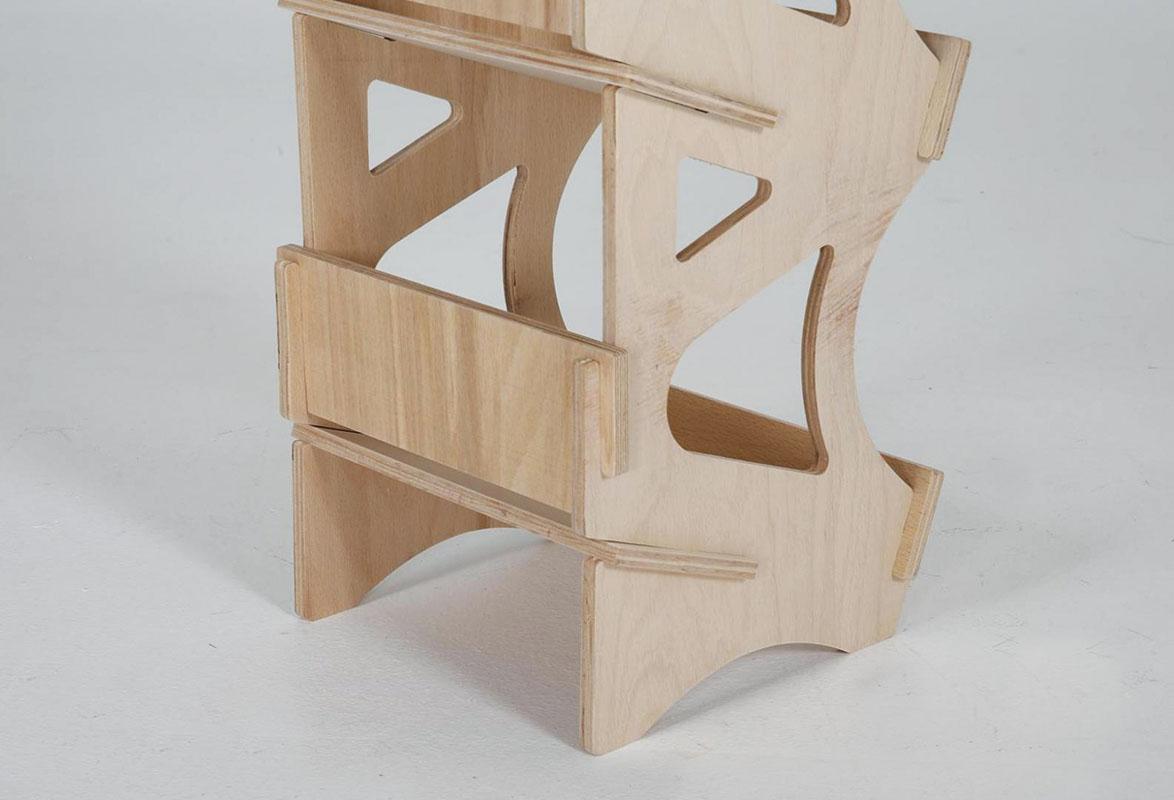Verkaufsregal Holz SUEZ - Gestell